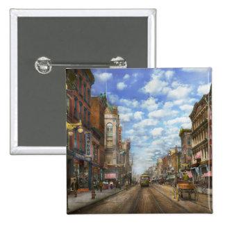 City - NY - Main Street. Poughkeepsie, NY - 1906 Button