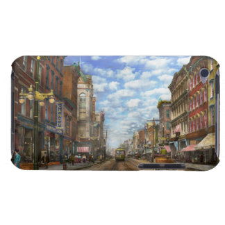 City - NY - Main Street. Poughkeepsie, NY - 1906 iPod Case-Mate Case