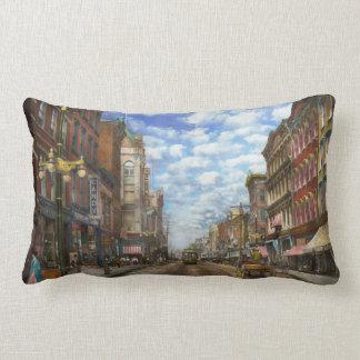 City - NY - Main Street. Poughkeepsie, NY - 1906 Lumbar Pillow