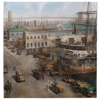 City - NY - South Street Seaport - 1901 Cloth Napkin