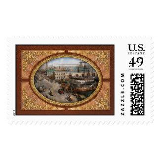 City - NY - South Street Seaport - 1901 Postage Stamp