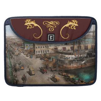 City - NY - South Street Seaport - 1901 Sleeves For MacBook Pro