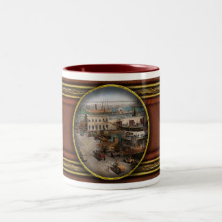 City - NY - South Street Seaport - 1901 Two-Tone Coffee Mug