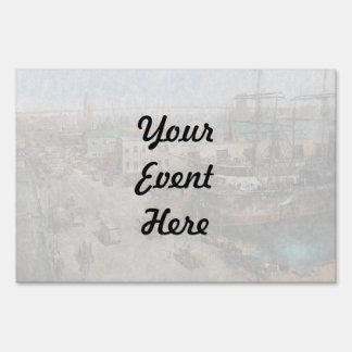 City - NY - South Street Seaport - 1901 Yard Sign