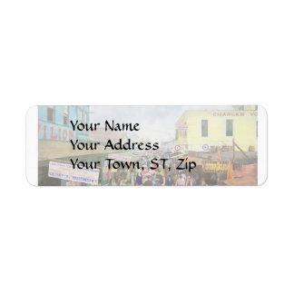 CITY - NY - The Bowery 1900 Return Address Label