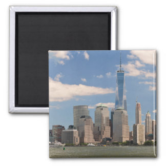 City - NY - The colors of a city 2 Inch Square Magnet