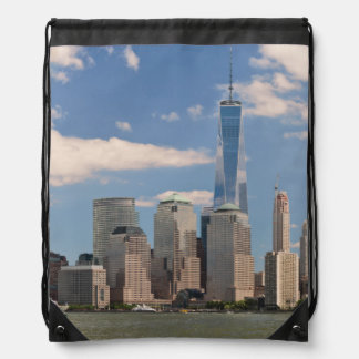 City - NY - The colors of a city Drawstring Backpack