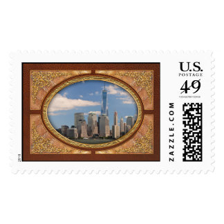 City - NY - The colors of a city Postage
