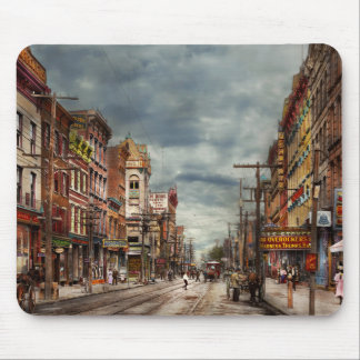 City - NY - The ever changing market place 1906 Mouse Pad