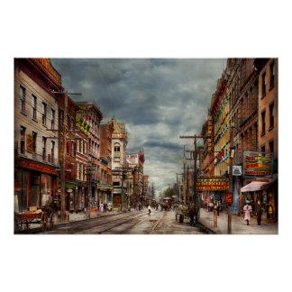 City - NY - The ever changing market place 1906 Poster