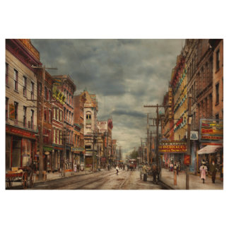 City - NY - The ever changing market place 1906 Wood Poster