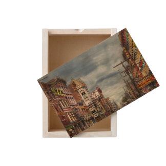 City - NY - The ever changing market place 1906 Wooden Keepsake Box