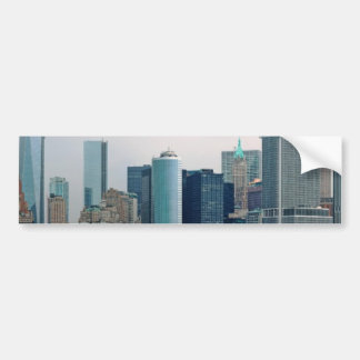 City - NY - The financial district Car Bumper Sticker
