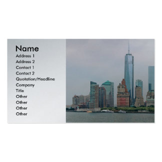 City - NY - The financial district Business Cards