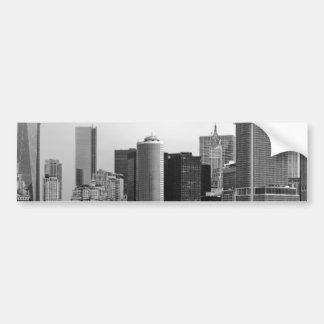 City - NY - The financial district - BW Car Bumper Sticker