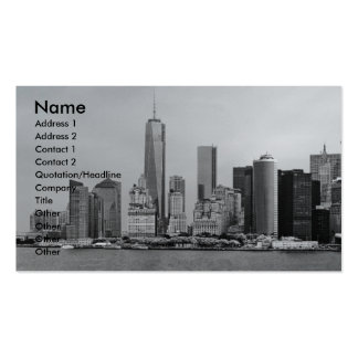 City - NY - The financial district - BW Business Cards
