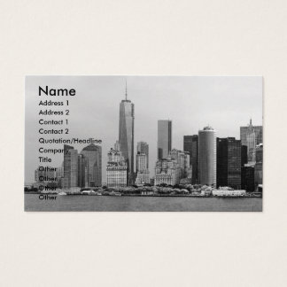 City - NY - The financial district - BW Business Card