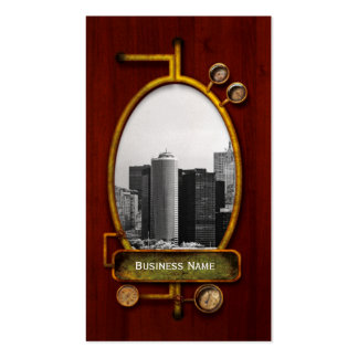 City - NY - The financial district - BW Business Card Templates