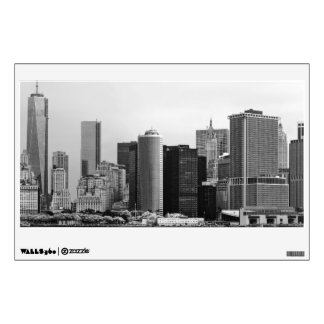 City - NY - The financial district - BW Wall Decals