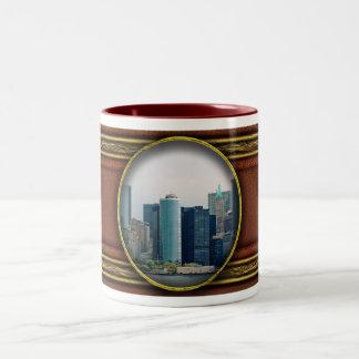 City - NY - The financial district Two-Tone Coffee Mug