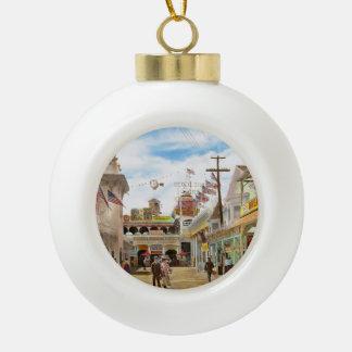 City - NY - The Great Steeplechase 1903 Ceramic Ball Christmas Ornament