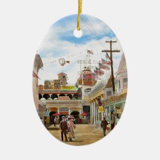 City - NY - The Great Steeplechase 1903 Ceramic Ornament