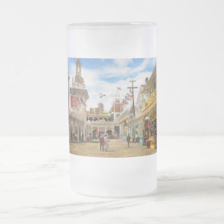City - NY - The Great Steeplechase 1903 Frosted Glass Beer Mug