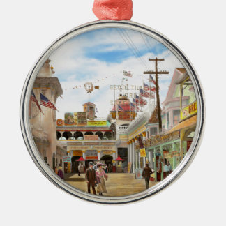 City - NY - The Great Steeplechase 1903 Metal Ornament