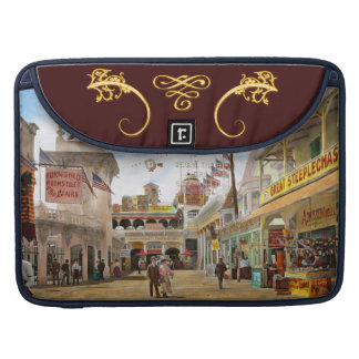 City - NY - The Great Steeplechase 1903 Sleeve For MacBook Pro