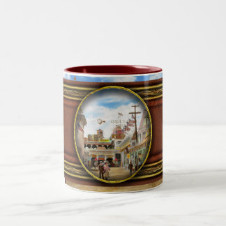 City - NY - The Great Steeplechase 1903 Two-Tone Coffee Mug