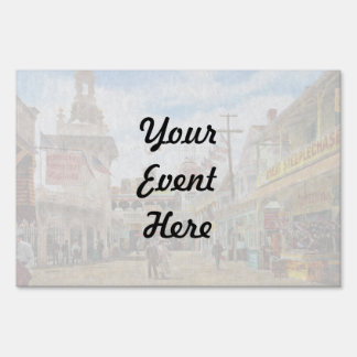 City - NY - The Great Steeplechase 1903 Yard Sign