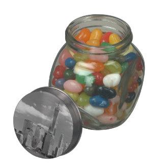 City - NY - The shades of a city Glass Candy Jars