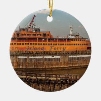City - NY - The Staten Island Ferry Ceramic Ornament