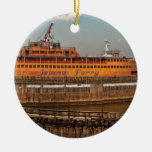 City - NY - The Staten Island Ferry Christmas Ornament