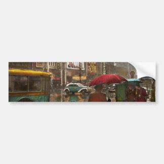 City - NY - Times Square on a rainy day 1943 Car Bumper Sticker