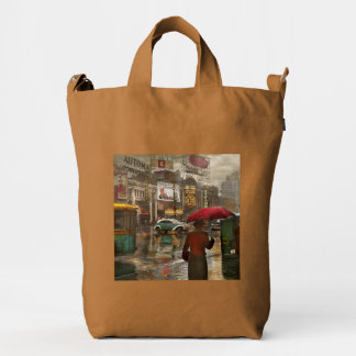 City - NY - Times Square on a rainy day 1943 Duck Bag