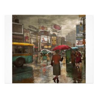 City - NY - Times Square on a rainy day 1943 Flyer