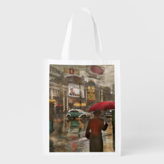 City - NY - Times Square on a rainy day 1943 Reusable Grocery Bag