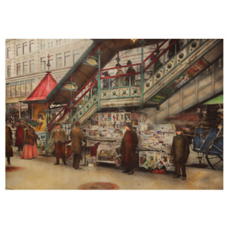 City - NY - Want a paper mister 1903 Wood Poster