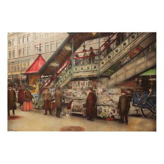 City - NY - Want a paper mister 1903 Wood Wall Decor