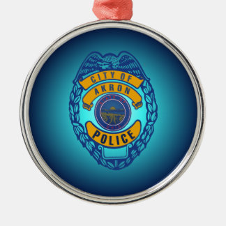 City of Akron Ohio Police Department Ornament