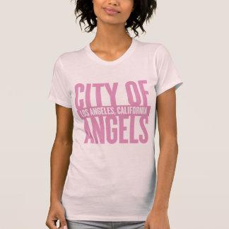 City Of Angels - Los Angeles | Dark Pink T-Shirt
