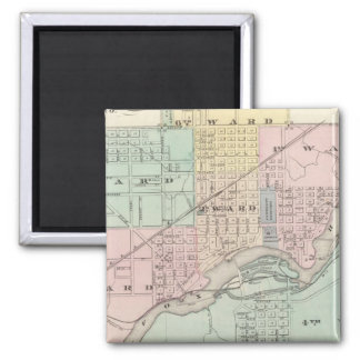 City of Appleton, county seat of Outagamie Co 2 Inch Square Magnet