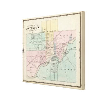 City of Appleton, county seat of Outagamie Co Canvas Print