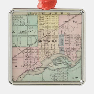 City of Appleton, county seat of Outagamie Co Metal Ornament