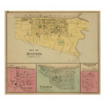 City of Augusta with Tietzville, Foster Print