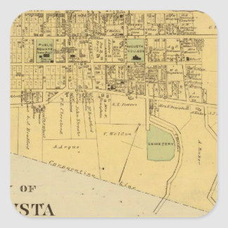 City of Augusta with Tietzville, Foster Square Sticker