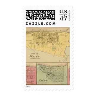 City of Augusta with Tietzville, Foster Stamp