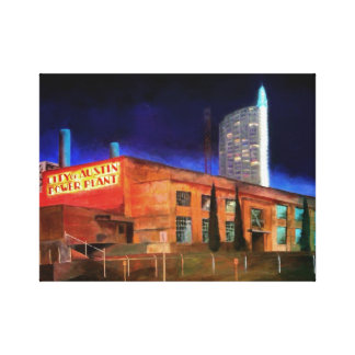 City of Austin Power Plant, Austin, Texas Canvas Print