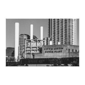 City of Austin Power Plant Stretched Canvas Prints